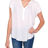 Half Day Blouse Top White