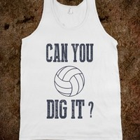 Skreened Can You Dig It Volleyball Tanktop