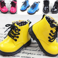 Baby Shoes Boots Girls Boys Martin boots Childrens Kids shoes snow boots leather