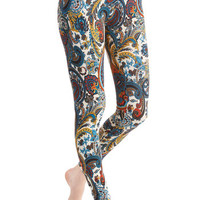 ModCloth Vintage Inspired Long Skinny Invigorating Style Leggings