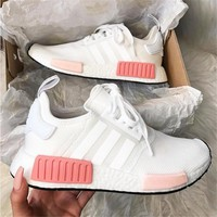 shosouvenir : Adidas NMD Fashion Sneakers Trending Running Sports Shoes Whtie-pink