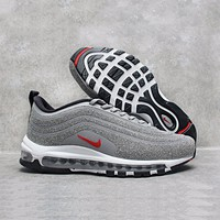 Best Online Sale Nike Air Max 97 LX Swarovski Crystal METALLIC Silver Bullet Running Shoes Sport Shoes 927508-001