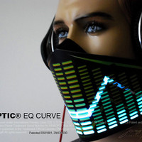 EQ CURVE mask for masquerade edc DJ gigs tron rave dubstep electro robot Glow ultra stage music festival subzero Sound Reactive costume