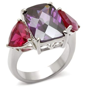 Sterling Silver Cubic Zirconia Ring 49702 - 925 Sterling Silver Ring
