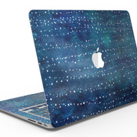 The Grungy Blue Green Stars Surface - MacBook Air Skin Kit