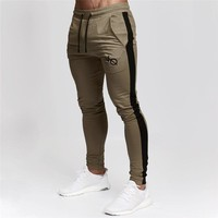 Jogging Pants Men Joggers Fitness Running Pants Striped Bodybuilding Sweatpants Gym Training Pants Slim Trousers Sport Pants Men