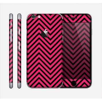 The Black & Pink Sharp Chevron Pattern Skin for the Apple iPhone 6
