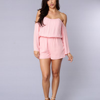 Blown Away Romper - Pink