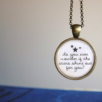 Ed Sheeran Musical Quote Autumn Leaves Beautiful Necklace