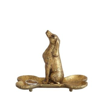 Dog Brass Dish By Creative Coop
