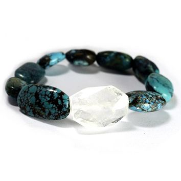 Turquoise/Clear 'Rock Candy' Bracelet