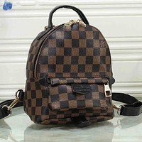 LV Louis Vuitton Hot Style Retro Print Ladies Backpack School Bag