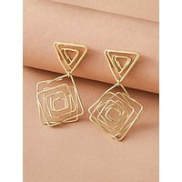 1pair Geometric Drop Earrings