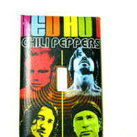 Light Switch Cover - Light Switch Plate Red Hot Chili Peppers