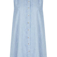 MOTO Bleach Button Denim Dress