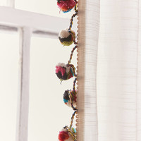 Pompom Curtain   Urban Outfitters