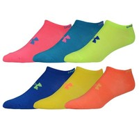 Under Armour Brights No Show 6 Pack Socks - Women's