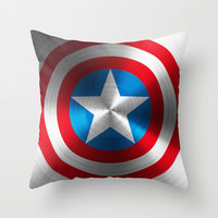 Captain America Throw Pillow by Kosept