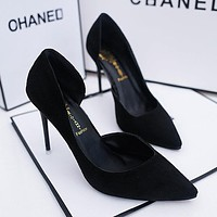 Summer Women Shoes Pointed Toe Pumps Patent Dress Shoes High Heels Wedding Shoes