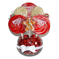 One Ready to Ship! Small Gingerbread Man Lollipop Centerpiece, Christmas Centerpiece, Lollipop Centerpiece, Hostess Gift, Candy Buffet