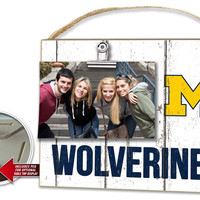 Michigan Wolverines Clip It Weathered Logo Photo Frame
