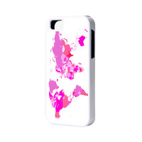 Pinky World Map iPhone 6 Plus 6 5S 5 5C 4 Rubber Case