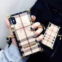 Burberry tide brand diagonal lanyard 7/6 mobile phone case cover
