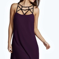 Amerah Strappy Caged Slip Chiffon Dress