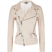 Alexander McQueen Grainy Leather Biker Jacket