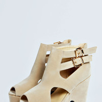 Madeline Cut Out Double Buckle Chunky Heels
