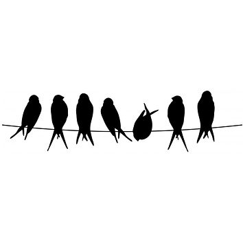 Black Birds on a Wire Waterproof Temporary Tattoos Lasts 3 to 4 days Choose Small, Medium or Large Sizes