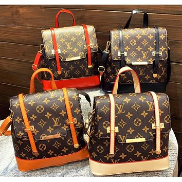 LV Louis vuitton casual ladies monogrammed monogrammed colour backpack