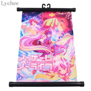 Lychee Japanese Anime No Game No Life Canvas Scroll Painting Living Room Home Wall Print Modern Art Decoration Poster