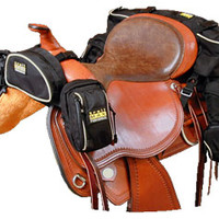 Saddles Tack Horse Supplies - ChickSaddlery.com TrailMax 500 Series Deluxe 5-Piece Saddle Bag System