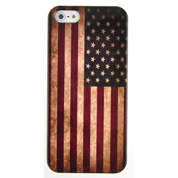 EarlyBirdSavings Retro Flag Of The United States of America Hard Case Cover for iPhone5 iPhone 5