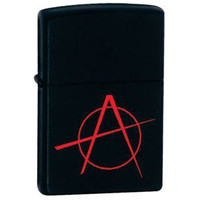 Zippo 2 Pack of Black Matte, Anarchy