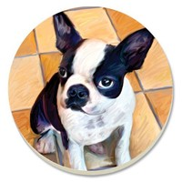CounterArt Boston Terrier Absorbent Coasters, Set of 4