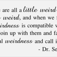 Dr. Seuss Quote wall decor