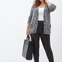 FOREVER 21 PLUS Heathered Knit Cardigan