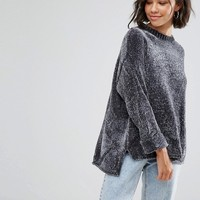 Pull&Bear Chenille Oversized Jumper at asos.com