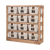 Shelving Unit with 12 Locker Baskets