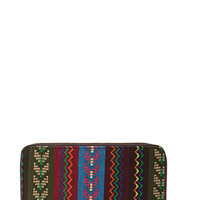 Worldly Tribal Patterned Wallet