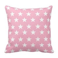 Cottage Chic Pale Pink with White Stars