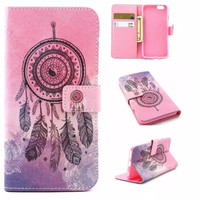 Dreamcatcher Case Cover PU Leather Wallet for iPhone & Samsung Galaxy S6  iPhone 6s Plus