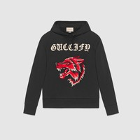 Gucci - Guccify cotton sweatshirt with wolf