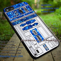 Glitter R2D2 Star Wars iPhone 6s 6 6s+ 5c 5s Cases Samsung Galaxy s5 s6 Edge+ NOTE 5 4 3 #movie #starwars dt