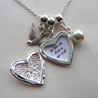 Hunger games inspired heart locket You love me. Real or not real