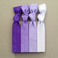 The Violet Ombre Hair Tie Collection - 4 Elastic Hair Ties - by Elastic Hair Bandz on Etsy