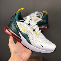 Nike Air Max 270 White Green Red Yellow Men Running Shoes - Danny Online