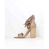 Miracle Miles - Suede It My Way Chic Heel Sandals in Taupe